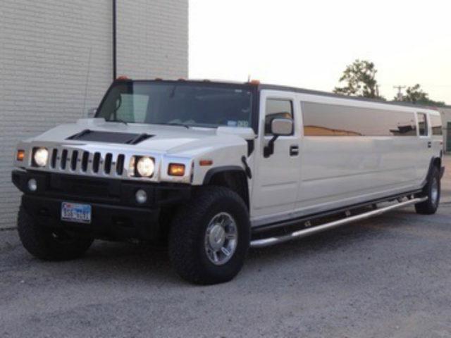 18-20 Passenger SUV Stretch Limousine H2 Hummer WHITE