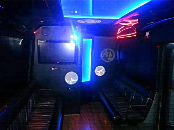 20-22 Passenger Party Bus BLACK