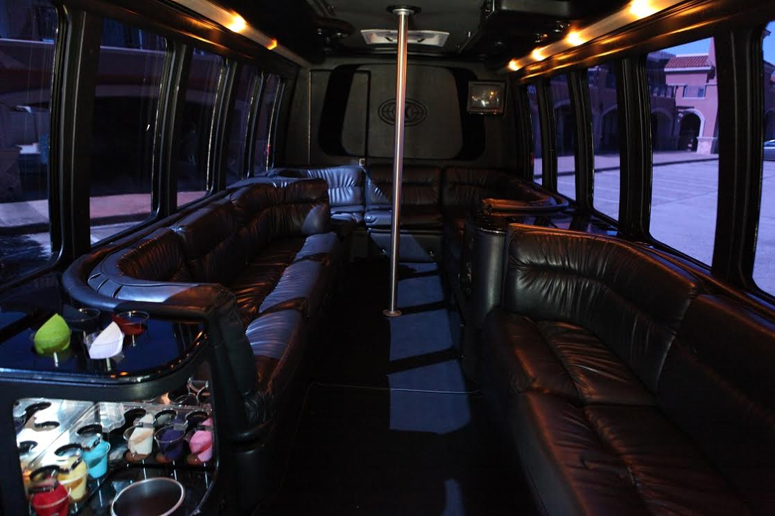 20 Passenger Party Bus BLACK