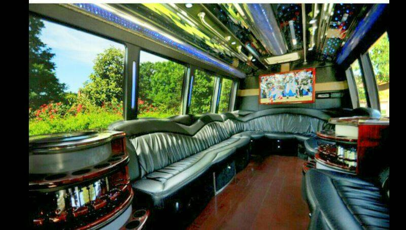 20 Passenger Party Bus Executive BLACK