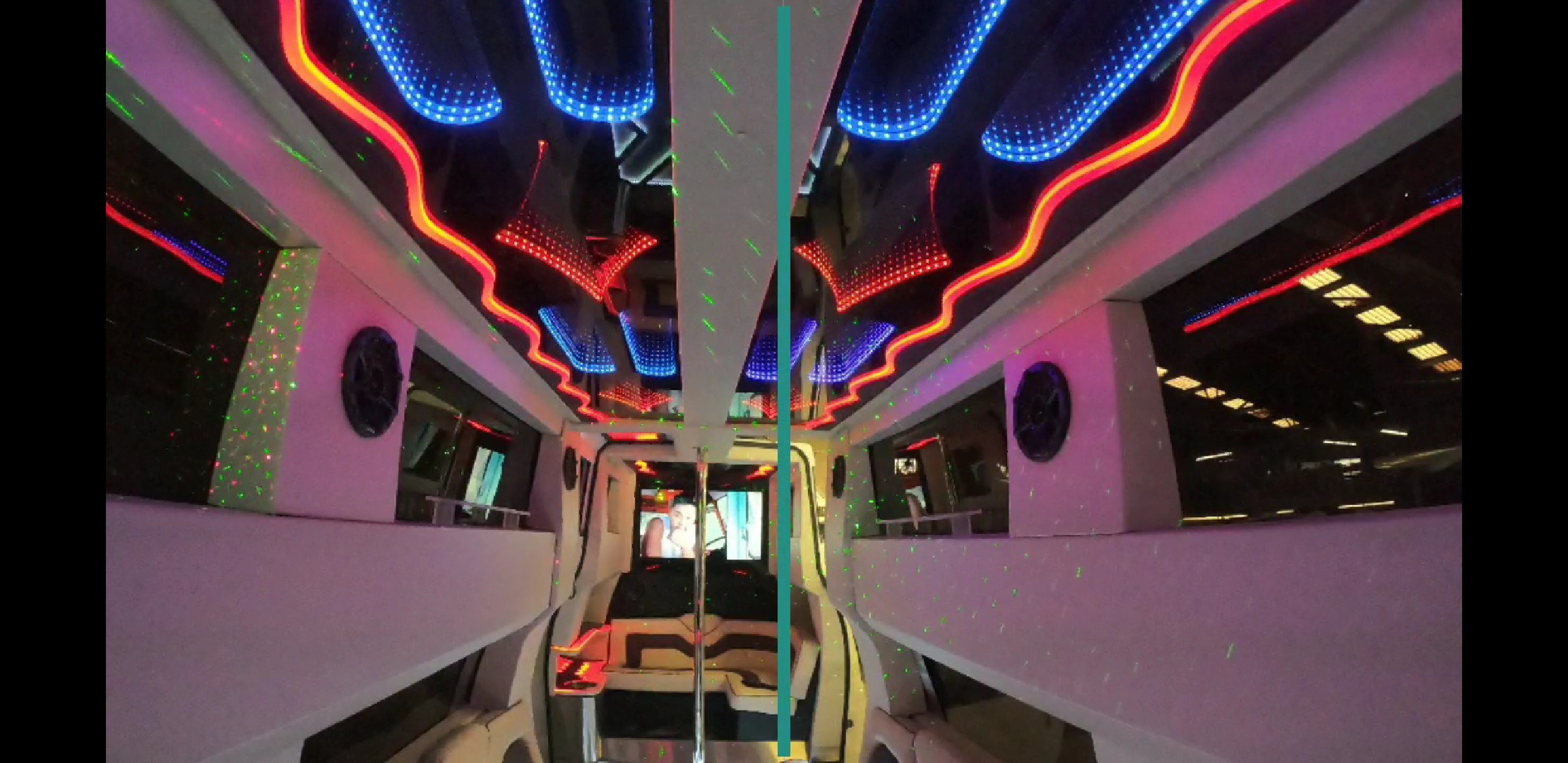 16 Passenger Party Bus WHITE