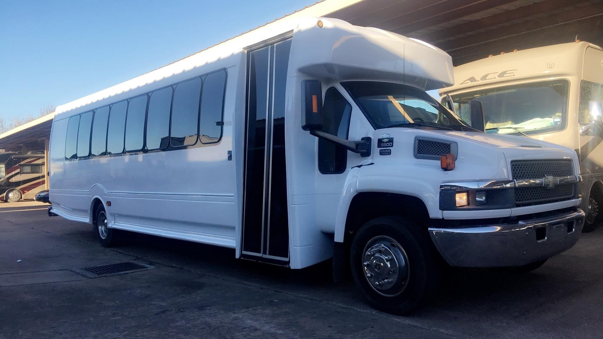 28 Passenger Party Bus WHITE
