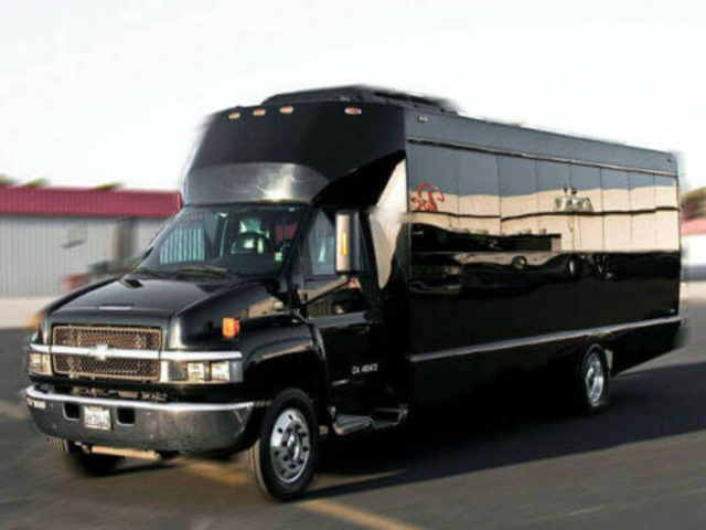 30 Passenger Party Bus BLACK