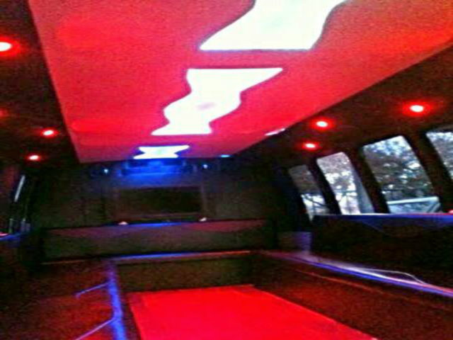 30 Passenger Party Bus Red BLACK